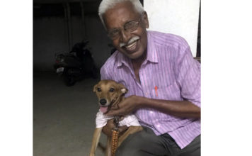 Retired policeman searched for a dog to hug