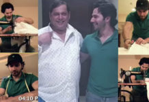 Varun Dhawan stitches shirt for his father's birthday David Dhawan Varun Dhawan