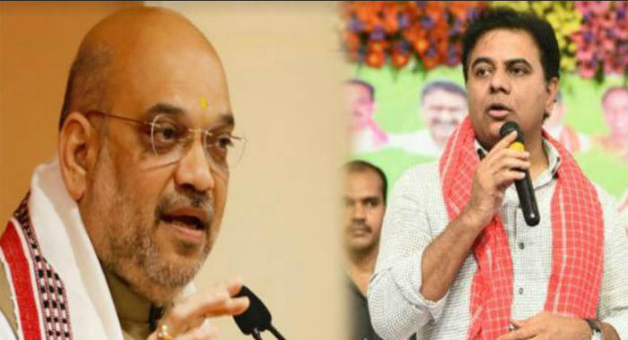 KTR Counter for Amit Shah