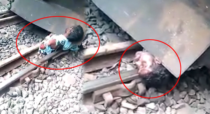 Lucky man… He had lived under the train