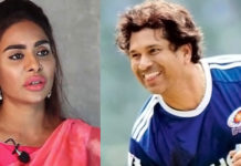 Sri Reddy accused Sachin Tendulkar being womanizer romancing in Hyderabad with charming women