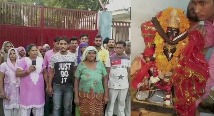 Uttar Pradesh: Denied installation of idol in temple, 100 Dalit families threaten conversion says 'We are Hindus, if we can't put a goddess idol in a temple then where should we go? its better to convert'