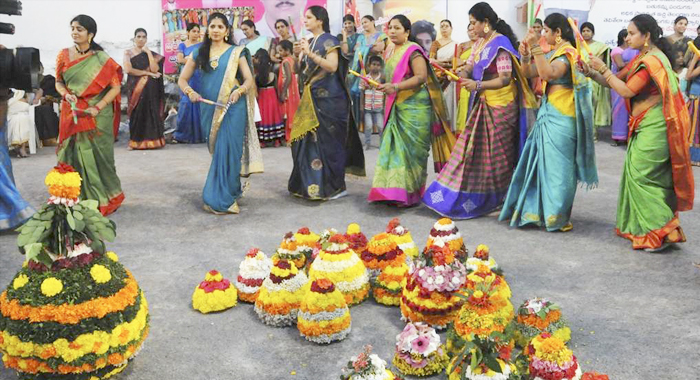 On the fourth day of flowers festival... today is rice bathukamma