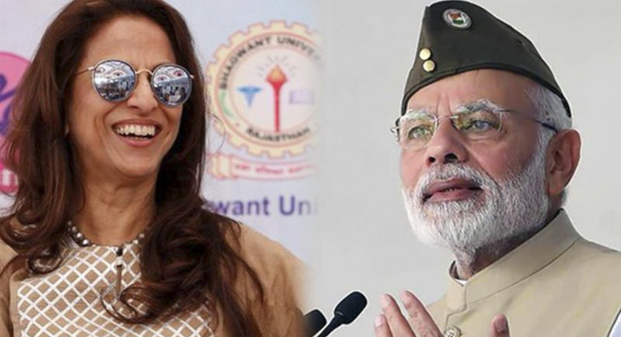 Wearing an icon's trademark 'topi' does not make you a Netaji tweets Shobha De,  invited ire of Modi's supporters for taking a dig at the Prime Minister, saying 'wearing iconic cap doesn't make you Netaji'