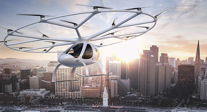 The driver of the low-flying taxi will take off from Singapore in the next year.