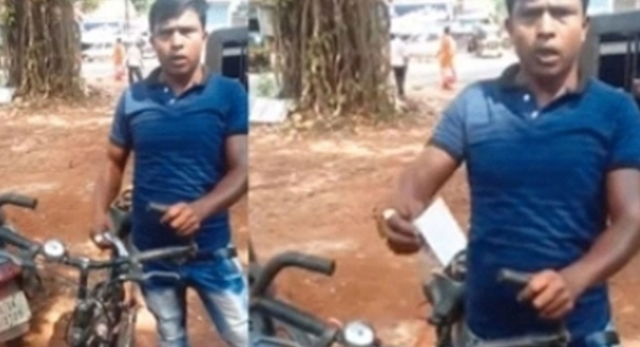 Kerala Police Makes a Bicycle Rider Pay Fine For Not Having License