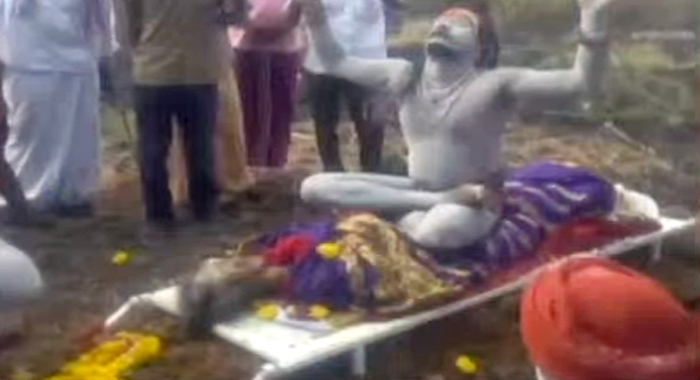 Aghora's son ... sat on the mother's corpse and performed tantric worship …..