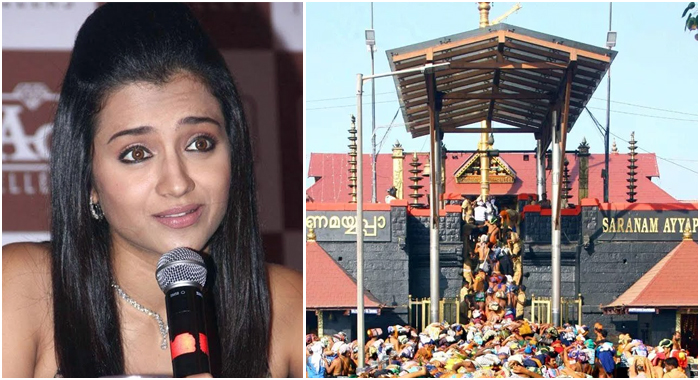 Do not stop the ladies who go to the temples ... Trisha