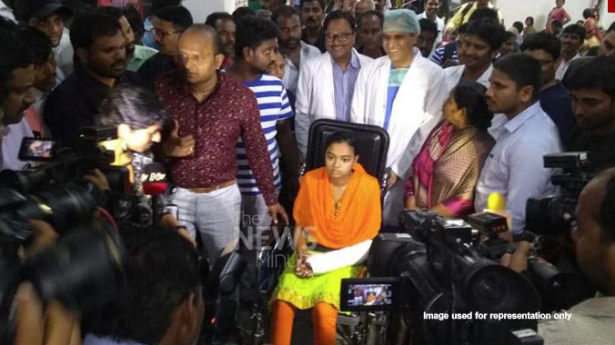Erragadda Madhavi discharged from hospital today after nearly one month treatment father Manoharachari attacked her for marrying dalit man