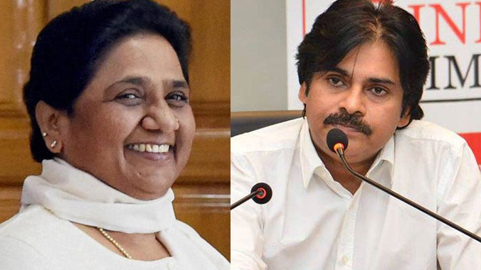 Janasena chief Pawan Kalyan to meet BSP Chief Mayawati eyeing on to play a key role in national politics and third front against Congress and BJP