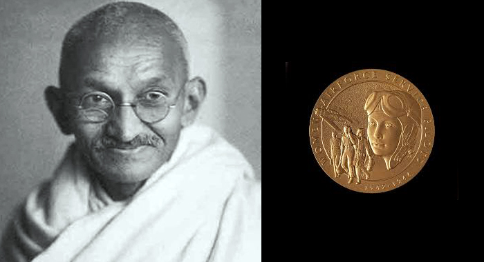 Move to posthumously award US Congressional Gold Medal to Mahatma Gandhi