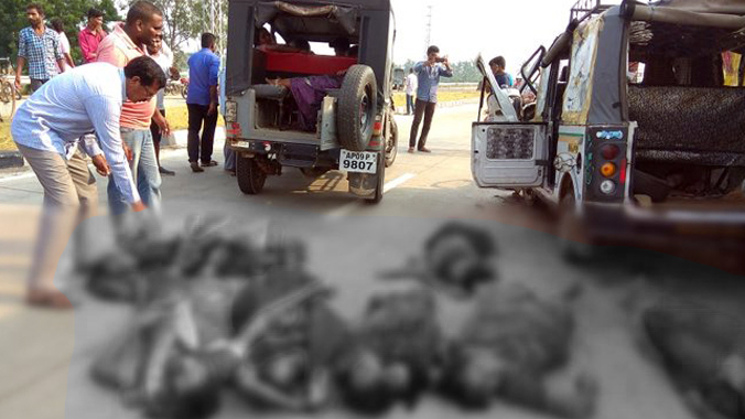 Road Accident At Gollaprolu.. 8 people Dead.. 10 people Injured