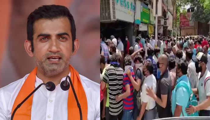 "Gautam Gambhir, Furious Seeing Crowd At The Liquor Shops, Said, ""Jams Have Become Necessary Due To Life."""