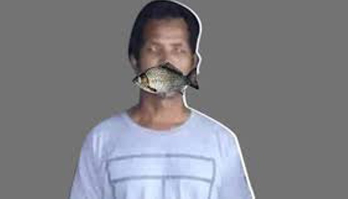 Assam man brings fish to fight COVID-19