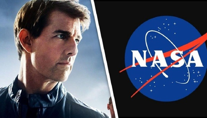 hollywood actor Tom Cruise Filming in space
