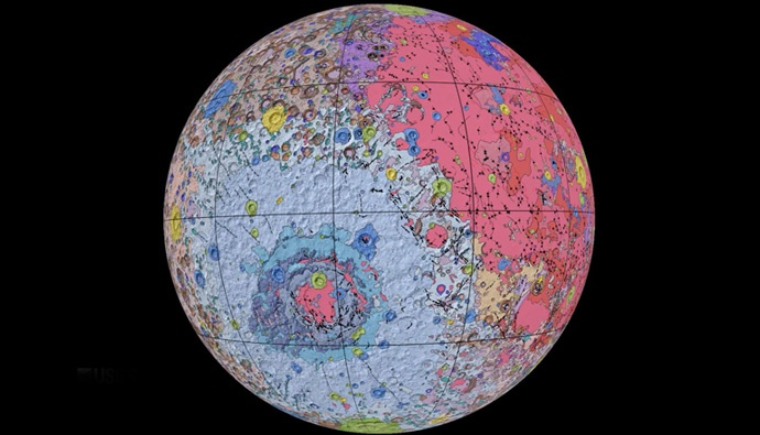 First detailed colour-coded geological map of Moon for scientists released