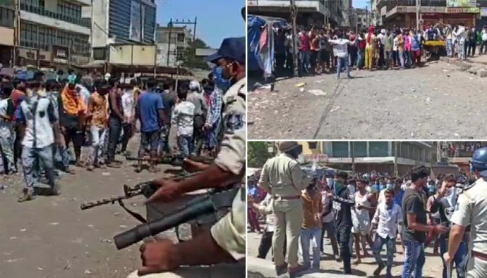 Conflicts between migrant laborers and police in surat
