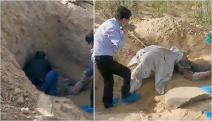 paralysed mother buried alive by son' miraculously survives