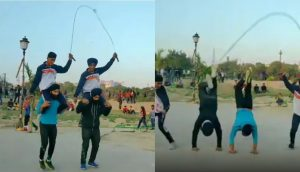 Delhi Man Who Set World Record With Roller Skate Skips is Back With a Jaw-dropping Jump Rope Stunt