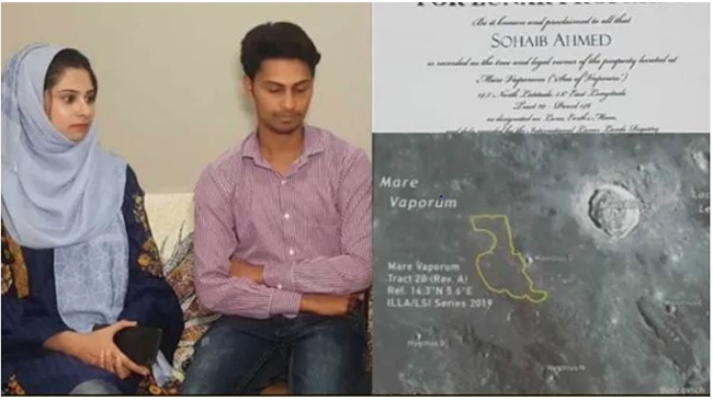 """""""Love you to the moon & back,"""" Pakistani Man Buys Land on Moon For Wife As Wedding Gift"""