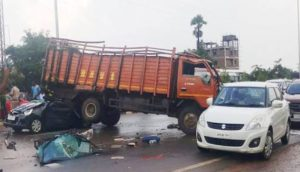 Sagar highway car dcm van collision