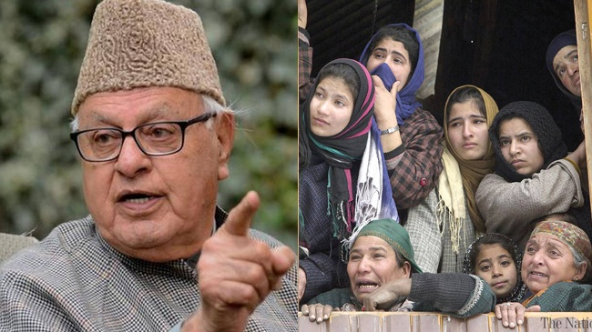 National conference leader Farooq Abdullah: Kashmiris don't want to be Indian, would rather be ruled by Chinese