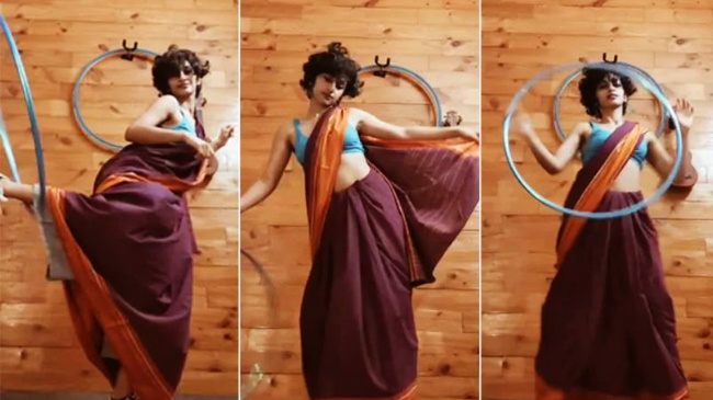 Hoop dance in saree esha kutty talent