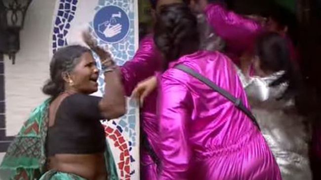 Gangavva slapping monal in biggboss
