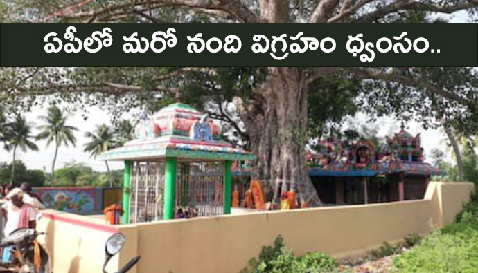 Another Nandi idol destroyed in AP ...