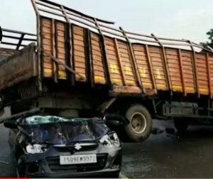 Sagar highway car dcm van collision
