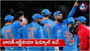 Team India schedule for australia tour