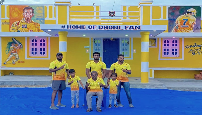 MS Dhoni fan paints his house yellow to pay tribute to CSK captain