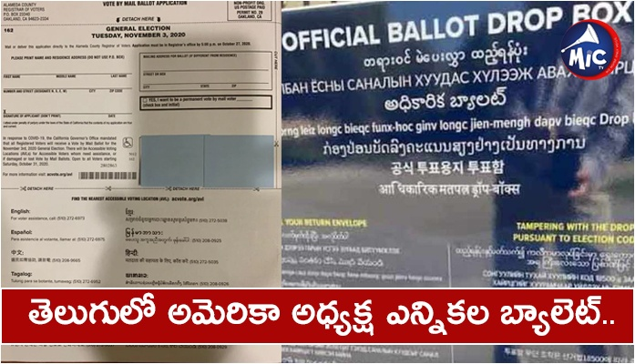 Telugu Language on American Ballot Box