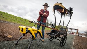 Watch: YouTuber Designs Rickshaw To Be Pulled By Robot Dog