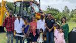 Prakash raj supports a poor family through JCB