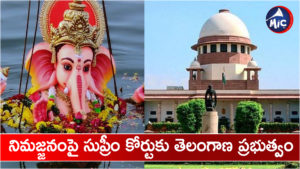 The Telangana government has approached the Supreme court over the immersion of Vinayaka